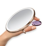 Simple Human Sensor Compact Mirror Rose Gold [10 cm]
