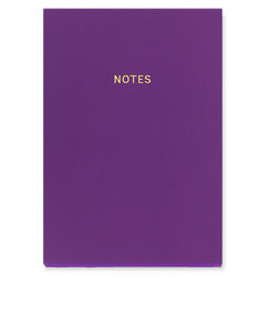 Go Stationery Colourblock Rich Plum A5 Notebook