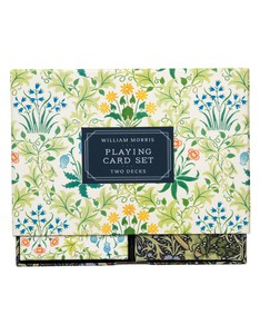 GALISON WILLIAM MORRIS PLAYING CARD SET