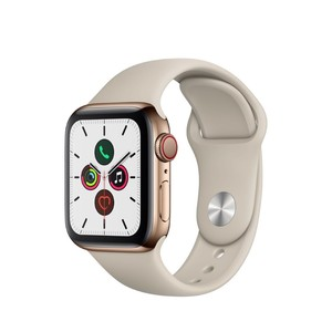 Apple Watch Series 5 GPS + Cellular 40mm Gold Stainless Steel Case with Stone Sport Band S/M & M/L
