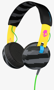 Skullcandy Grind Locals Only/Yellow/Black W/Mic Headphones