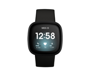 Fitbit Versa 3 Black/Black Aluminum Smart Watch