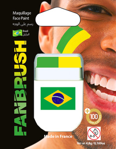 Fanbrush Brazil Flag Face Paint
