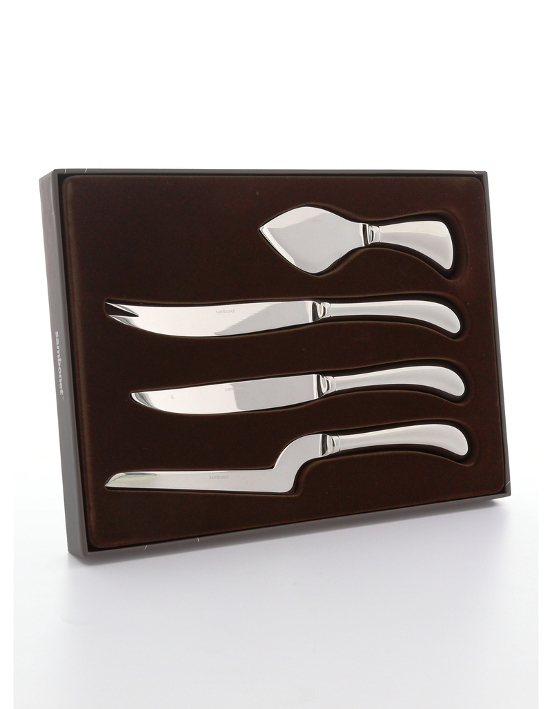 sambonet living cheese knives set of 4 - Cheese Knife Set