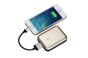 Just Mobile Gum++ Portable Usb Power Pack 6000Mah Gold