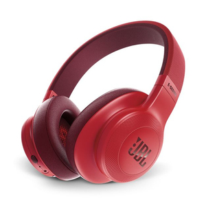 JBL E55 Red Bluetooth Over-Ear Headphones
