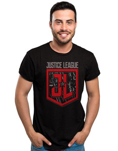 CID Justice League Movie Shield Character Black Unisex T-Shirt