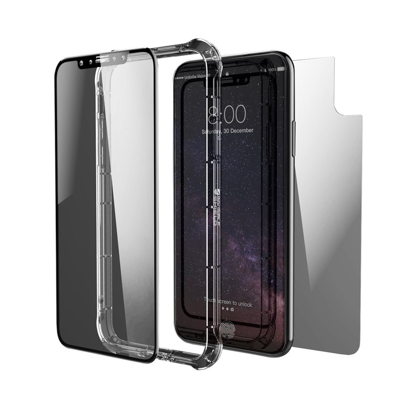 wholesale dealer 81481 543d9 Zagg Invisible Shield Contour 360 Black Full Body Screen Protector iPhone X