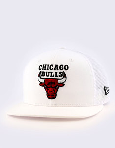 New Era Mesh Chicago Bulls Optic White Cap