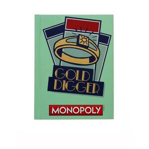 Monopoly Gold Digger Hard Cover Journals 6 InchX8 Inch