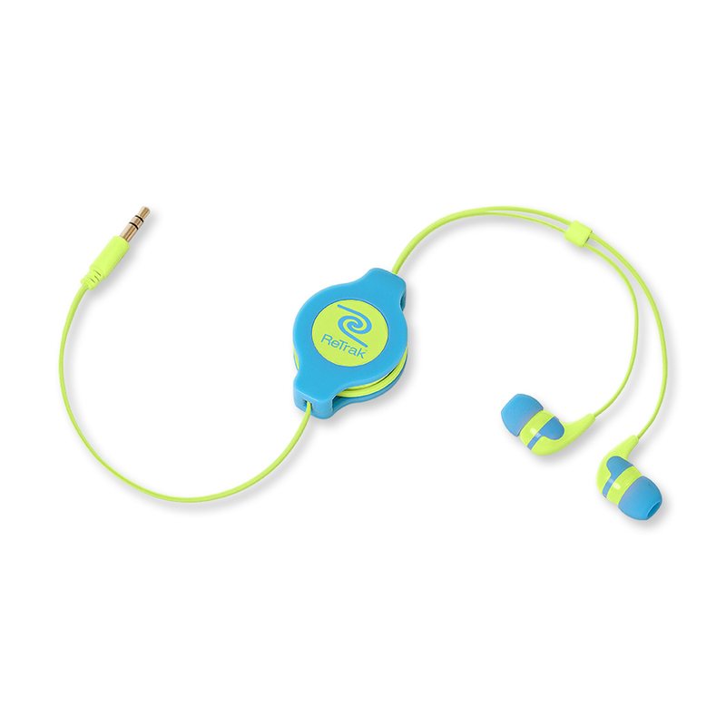 Retrak Neon Sports Blue & Yellow Earphones