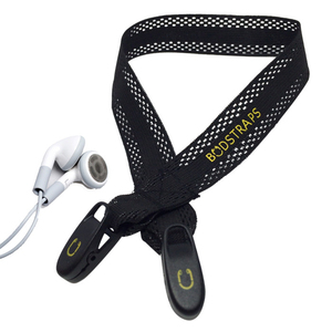 BudStraps FlexSport Black Earbud Neck Strap