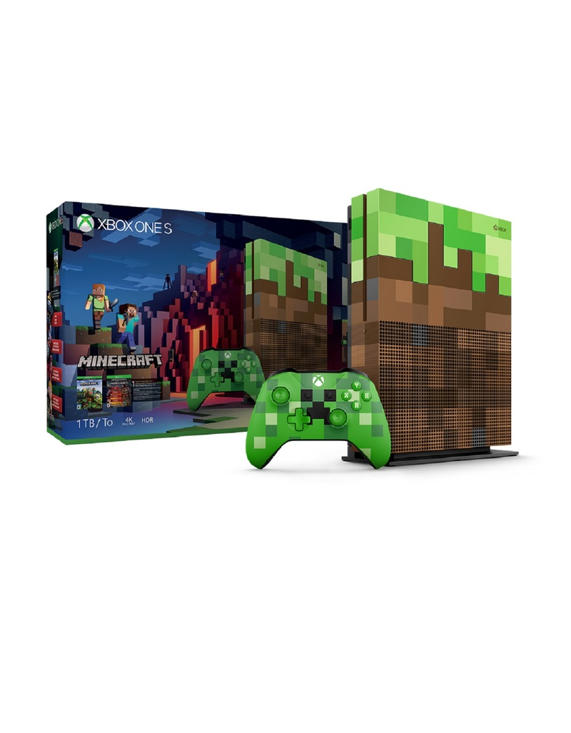 Xbox One S 1TB Minecraft Limited Edition Console