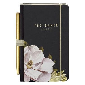 Ted Baker Mini Notebook and Pen Black Opal