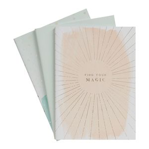 kikki.K A5 Stitch Notebooks 3Pk She Shines Multi-Color