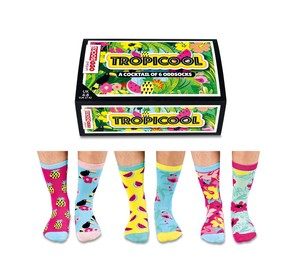 UNITED ODDSOCKS TROPICOOL LADIES SOCKS [SET OF 3 PAIRS]