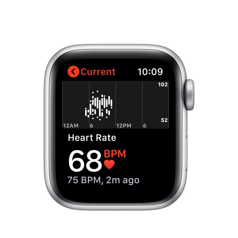 Apple Watch Nike Series 5 GPS+Cellular 40mm Silver Aluminium Case Pure Platinum/Black Nike Sport Band S/M M/L