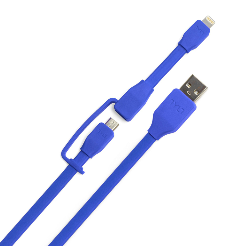 Tylt Sync Cable Duo Charge & Sync Blue Cable 1M